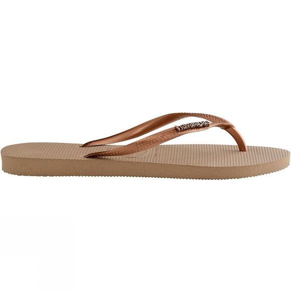 Womens Slim Logo Metallic Flip Flop