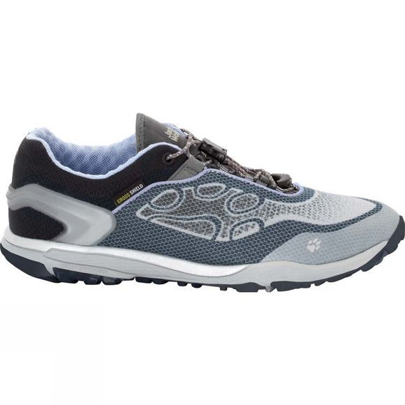 Jack Wolfskin Womens Crosstrail Shield Low Shoe Grey Haze