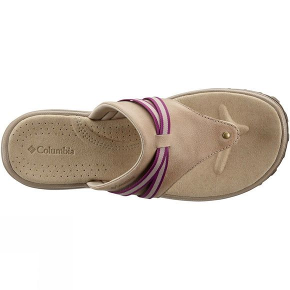Columbia Womens Santiam Flip Sandal Oxford Tan/Intense Violet