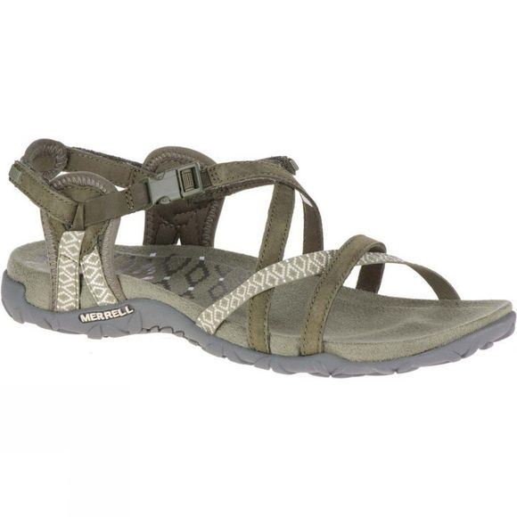 Merrell Womens Terran Lattice II Sandal Dusty Olive