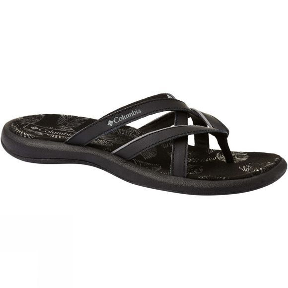 Columbia Womens Kambi II Flip-Flop Black, Ti Grey