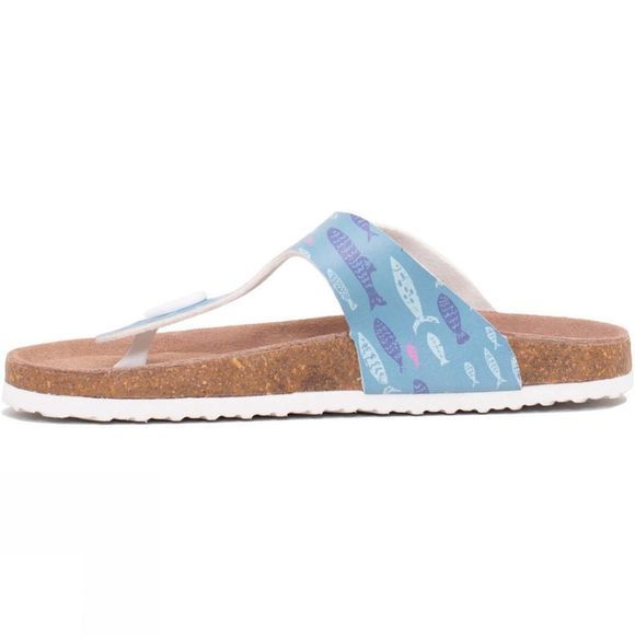 Brakeburn Women's Fish Sandal Sea Blue