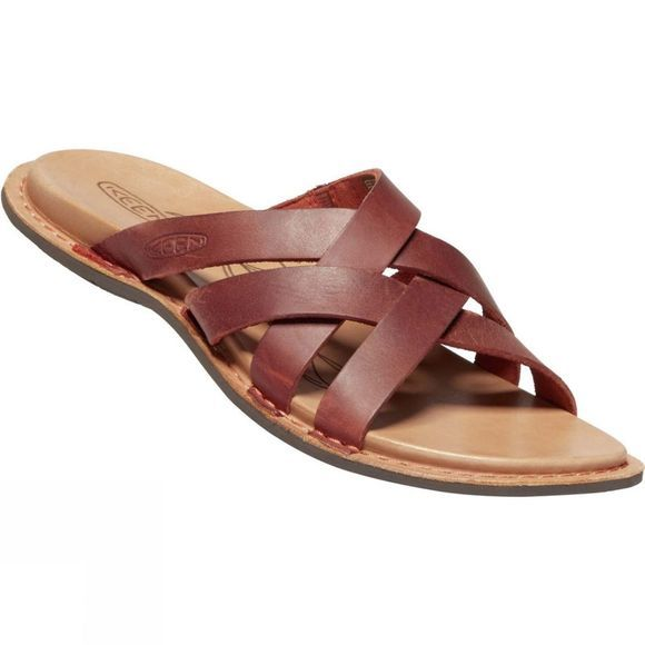 Keen Women's Sofia Slide Leather Mule Sandal Picante/Mulch