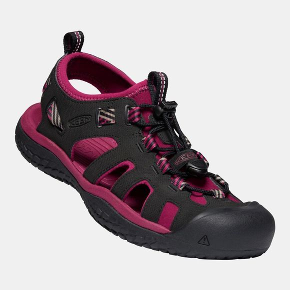 Keen Women's Solr Sandal Raspberry Wine/Black
