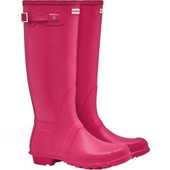 Hunter Womens Hunter Original Tall Wellington Boots Bright Pink