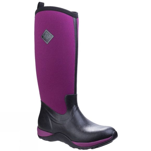 Muck Boot Womens Arctic Adventure Boot Black / Maroon