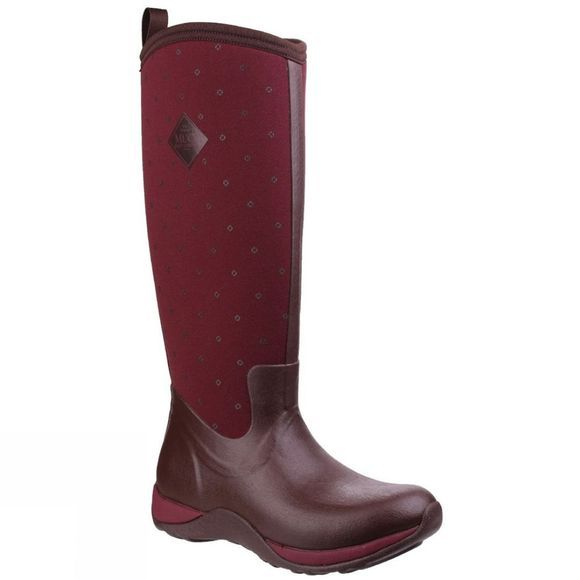 Muck Boot Womens Arctic Adventure Boot Cordovan Red Quilt
