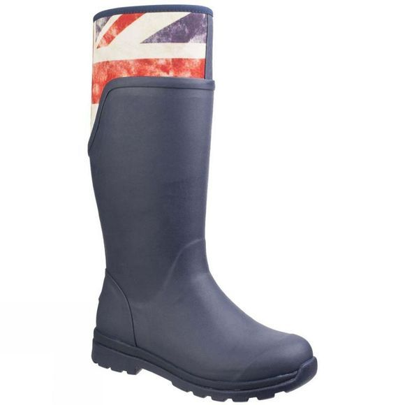 Muck Boot Womens Cambridge Tall Versatile Premium Rain Boot Navy/Vintage Union Jack