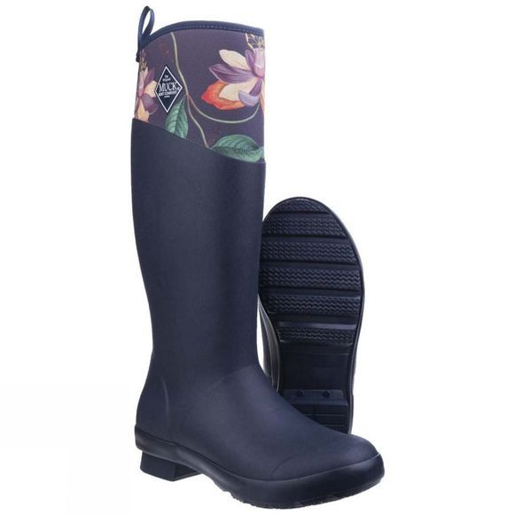 Muck Boot Womens Tremont RHS Print Waterproof Welly Navy/B&B Passiflora