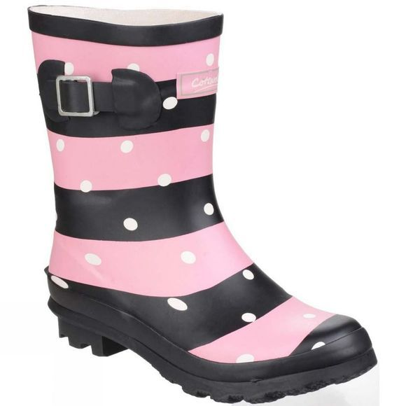 Cotswold Womens Badminton Waterproof Pull On Welly Stripe
