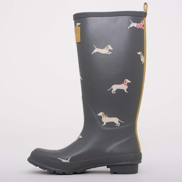 Brakeburn Womens Sausage Dog Welly Charcoal