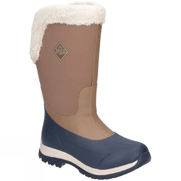Muck Boot Womens Apres Tall Boot Otter/Navy