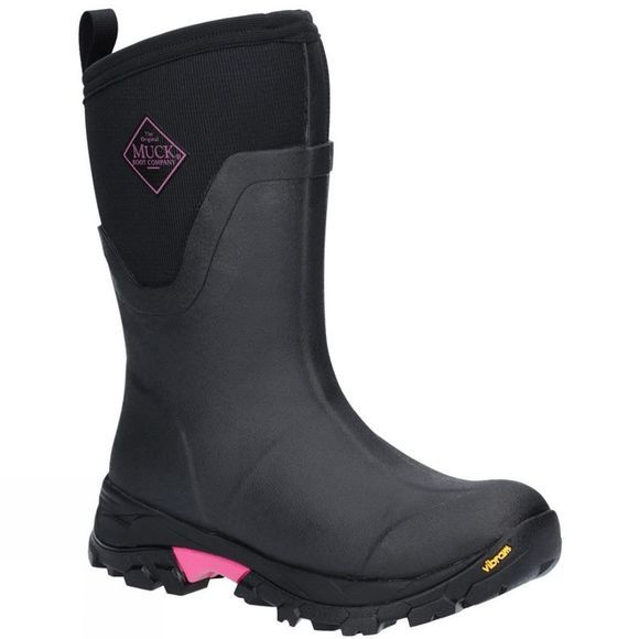 Muck Boot Womens Arctic Ice Mid Boot Black/Pink