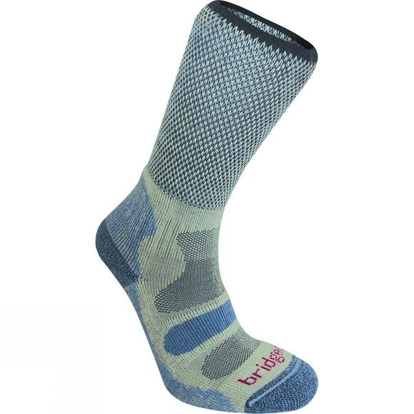 Bridgedale Womens CoolFusion Light Hiker Sock Smoky Blue