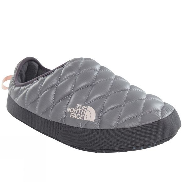The North Face Womens ThermoBall Tent Mule IV Shiny Frost Grey/Iron Gate Grey
