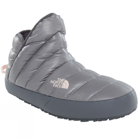 The North Face Womens ThermoBall Traction Bootie Shiny Frost Grey/Iron Gate Grey