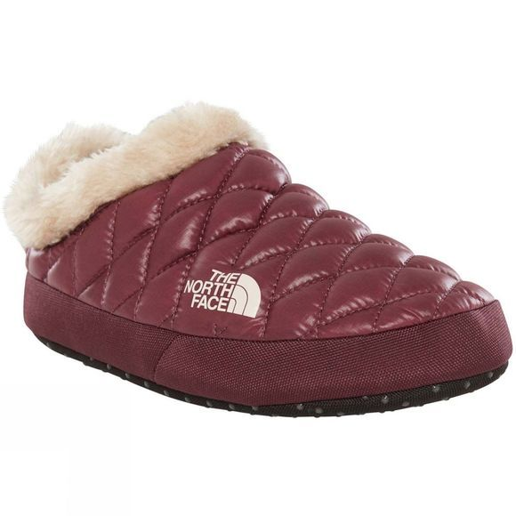 The North Face Womens Thermoball Tent Mule Faux Fur IV Shiny Fig/ Vintage White