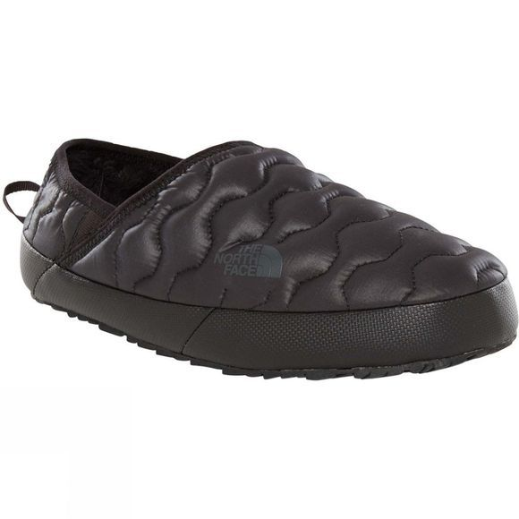 The North Face Womens Thermoball Traction Mule IV Slipper Shiny TNF Black/ Beluga Grey
