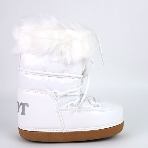 Calzat Shiny Moon Boot White