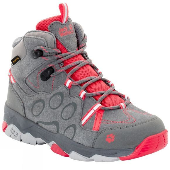 Jack Wolfskin Kids MTN Attack 2 CL Texapore Mid Boot Tarmac Grey/Hibiscus Red