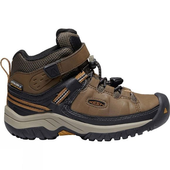 Keen Childrens Targhee Mid WP Boot Dark Earth/Golden Brown