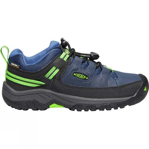 Keen Boys Targhee Low WP Shoe Blue Opal/Bright Green