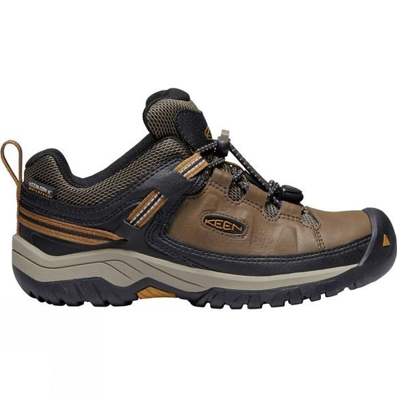 Keen Boys Targhee Low WP Shoe Dark Earth/Golden Brown