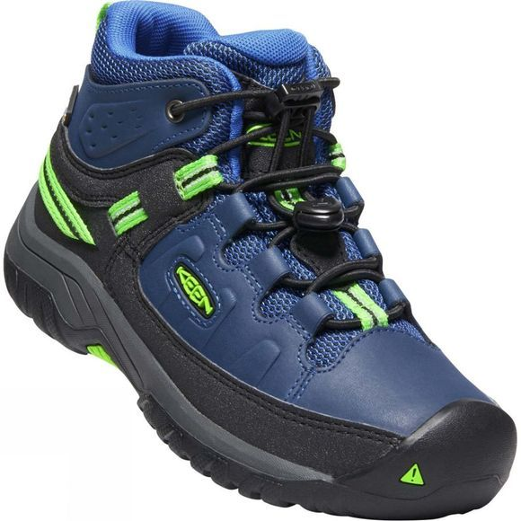 Keen Youth Targhee Mid WP Boot Blue Opal/Bright Green