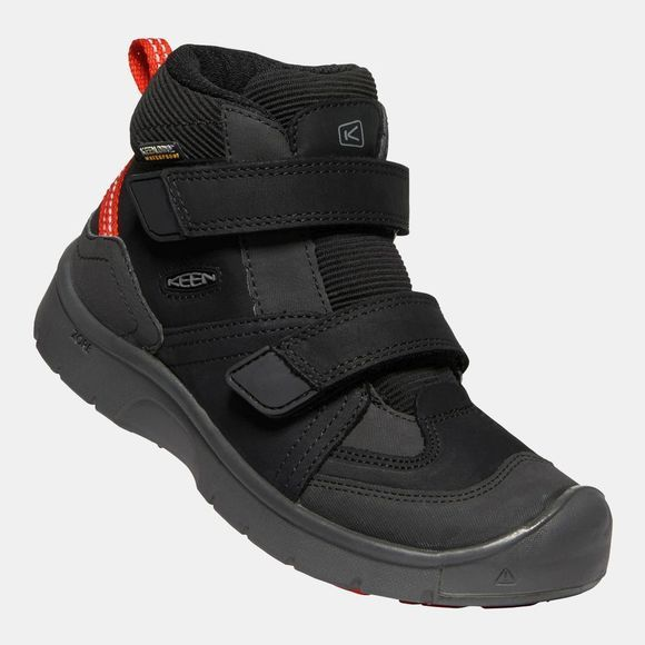 Keen Youth Hikeport Mid Strap Waterproof Boot Black/Bright Red