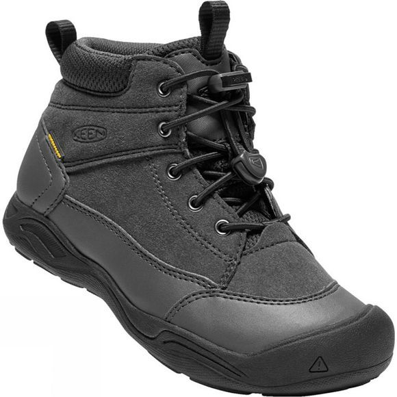 Keen Youth Jasper Mid Waterproof Boot Black/Raven