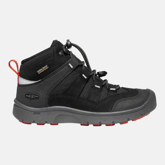 Keen Boys Hikeport Mid WP Boot Black/Bright Red