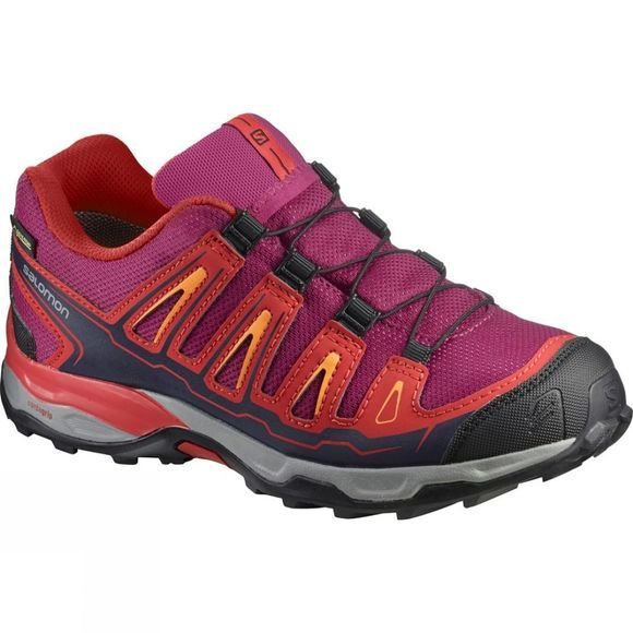 Salomon Kids X-Ultra GTX Shoe Sangria/Poppy Red/Bright Marigold