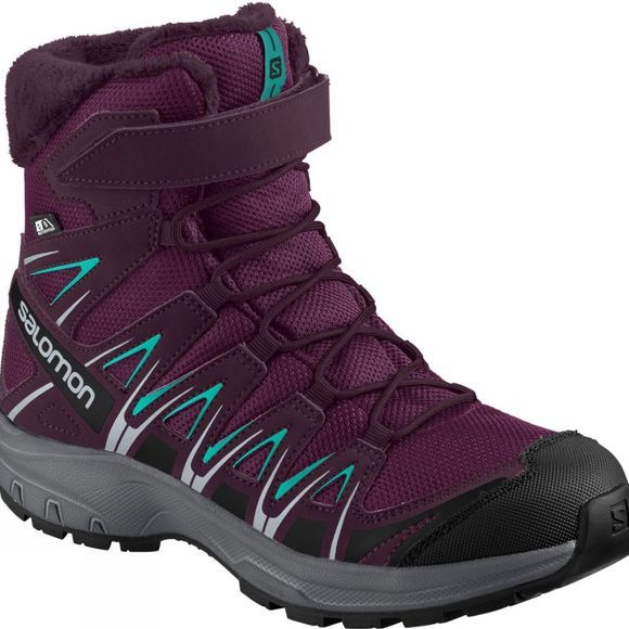 Salomon Kids XA Pro 3D Winter TS CSWP Boot Dark Purple/Potent Purple/Atlantis