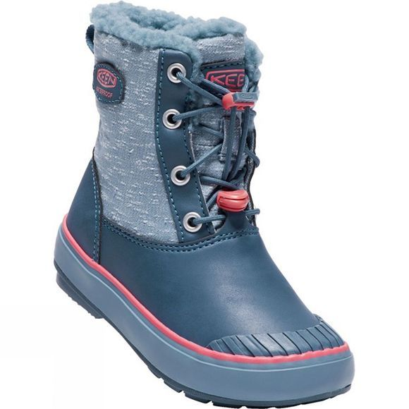 Keen Kids Elsa Waterproof Boot Captains Blue/Sugar Coral