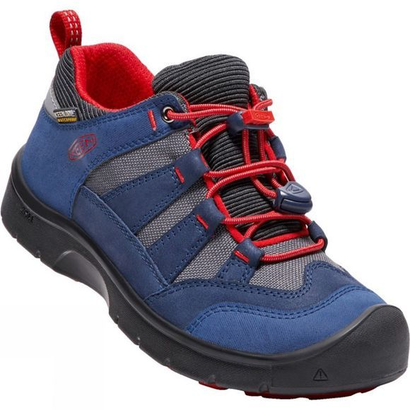 Keen Youth Hikeport Waterproof Shoe Dress Blues/Firey Red