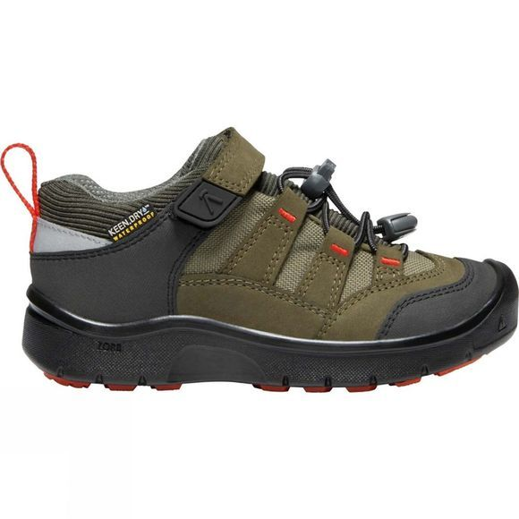 Keen Kids Hikeport Waterproof Shoe Martini Olive/Pureed Pumpkin