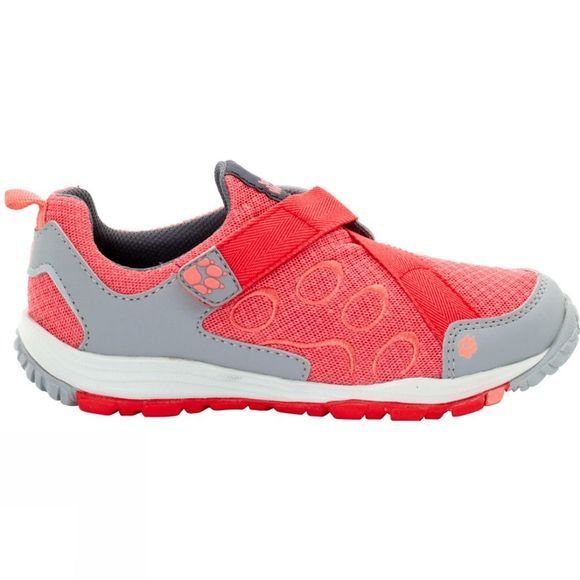 Jack Wolfskin Kids Monterey Ride Velcro Low Shoe Hot Coral