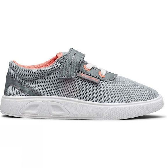 Columbia Kids Spinner Shoe Earl Grey, Hot Coral