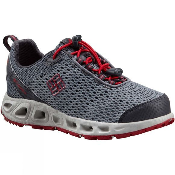 Columbia Youth Drainmaker III Shoe Grey Ash/Mountain Red