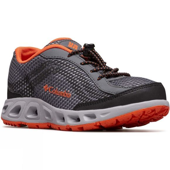 Columbia Youth Drainmaker IV Shoe 14+ Graphite, Tangy Orange