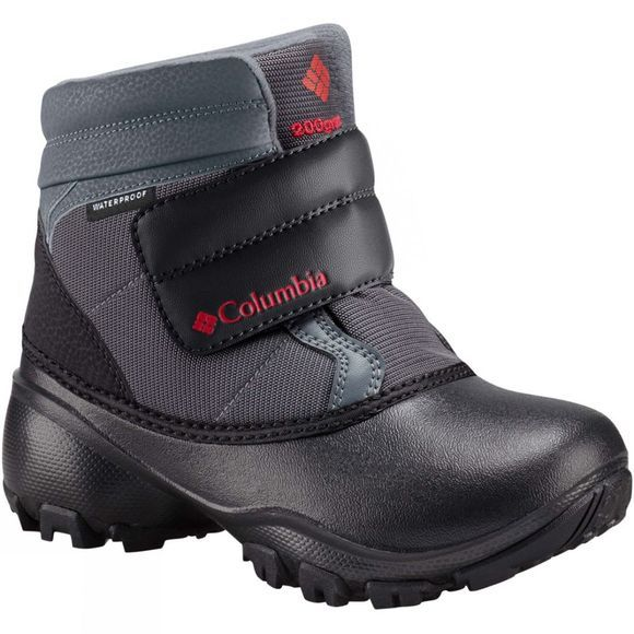 Columbia Boys Rope Tow Kruser Boot Graphite / Bright Red