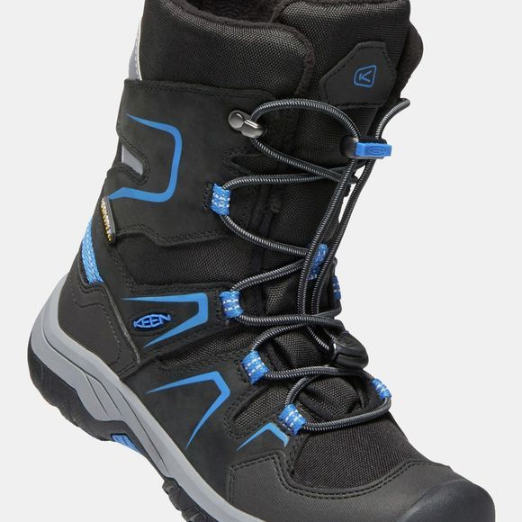 Keen Youth Levo Winter Waterproof Boot Black/Baleine Blue