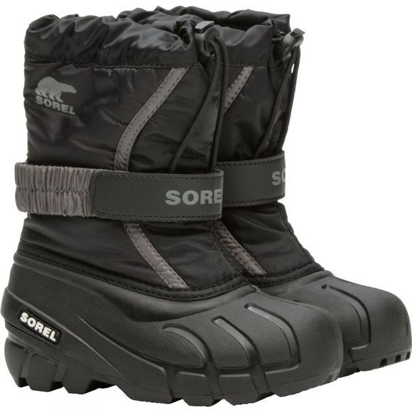 Sorel Childrens Flurry Boot Black, City Grey