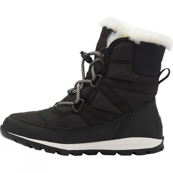 Sorel Youth Whitney Short Lace 14+ Black, Sea Salt