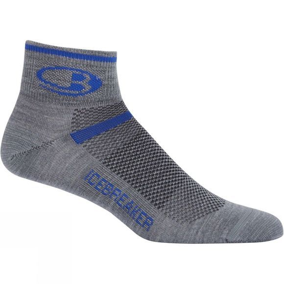 Icebreaker Mens Multisport Ultralight Mini Sock Twister Heather/Cobalt