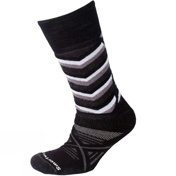 SmartWool Mens PhD Medium Pattern Sock Black