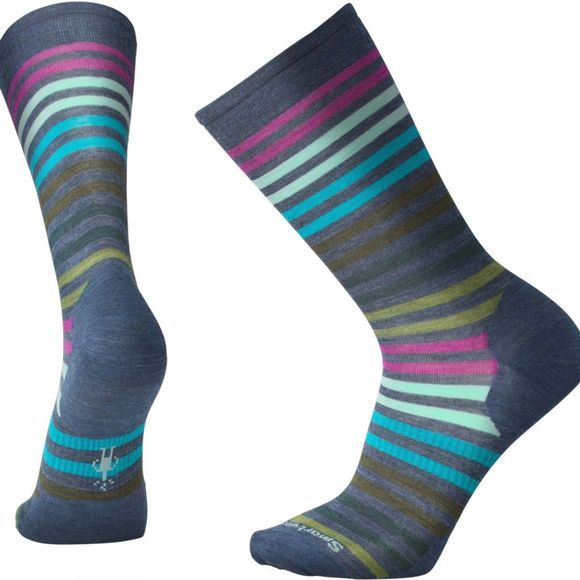SmartWool Mens Spruce Street Crew Socks Dark Blue Steel