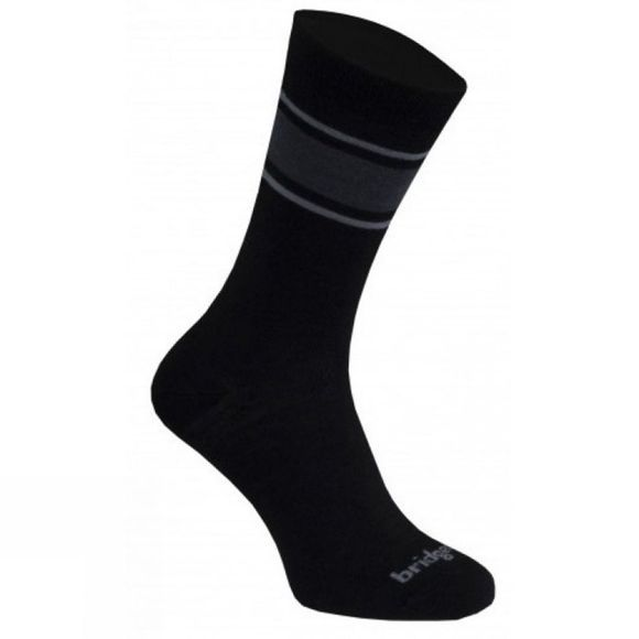 Bridgedale Mens Merino Liner Sock Black/Light Grey