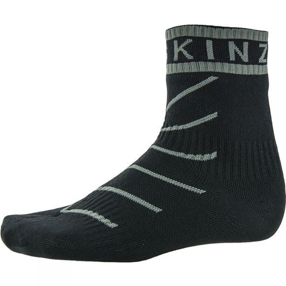SealSkinz Super Thin Pro Ankle Sock with Hydrostop Black/Grey