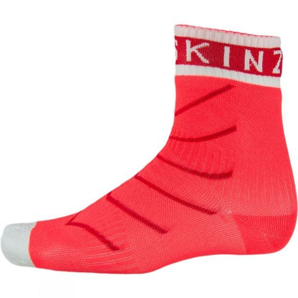 SealSkinz Super Thin Pro Ankle Sock with Hydrostop Coral/Red/White